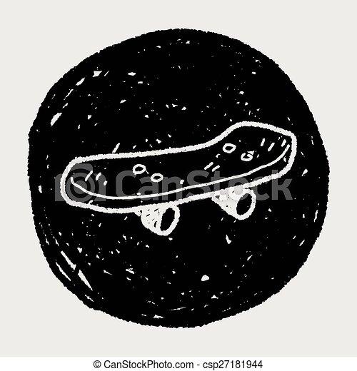 いたずら書き, スケート, ローラー - csp27181944