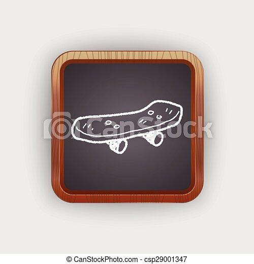 いたずら書き, スケート, ローラー - csp29001347