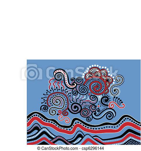 いたずら書き, 抽象的な風景 - csp6296144