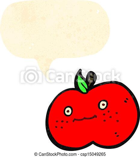 かわいい, 漫画, アップル - csp15049265