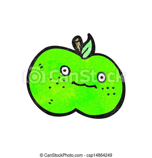 かわいい, 漫画, アップル - csp14864249