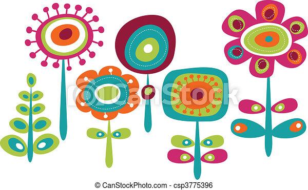 かわいい, 花, カラフルである - csp3775396