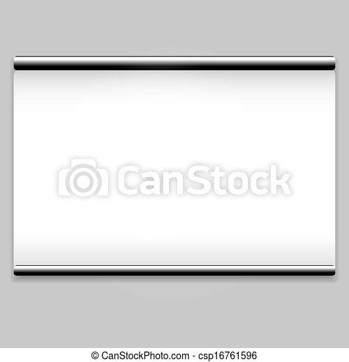 きれいにしなさい, 白いスクリーン, 背景, プロジェクター - csp16761596