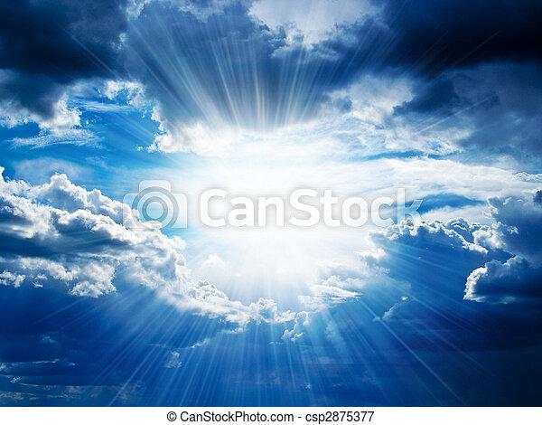 によって, 壊れる, 光線, 雲, 日光 - csp2875377