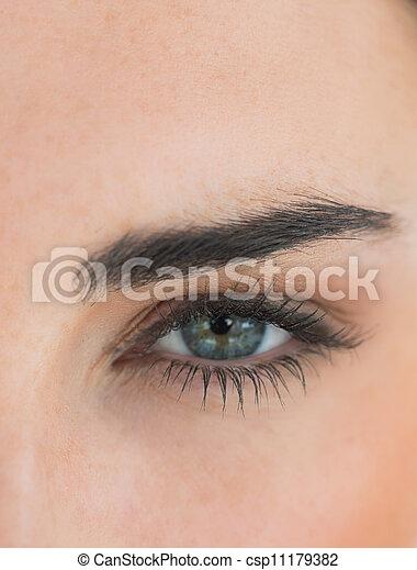 の上, 目, 終わり - csp11179382