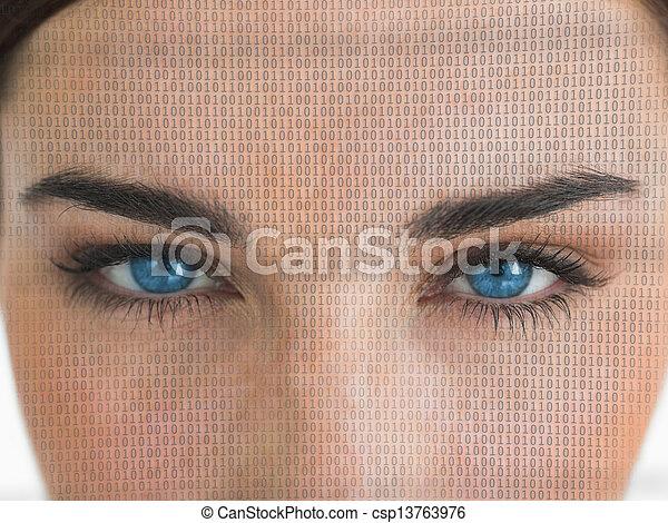 の上, 目, 終わり - csp13763976
