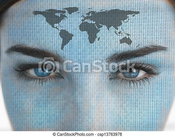 の上, 目, 終わり - csp13763978