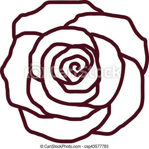 ばら色 花弁, アウトライン - csp43577783