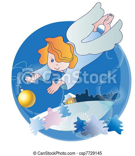 わずかしか, ボール, クリスマス, 天使 - csp7729145