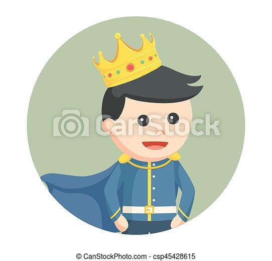 わずかしか, 円, 背景, 王子 - csp45428615