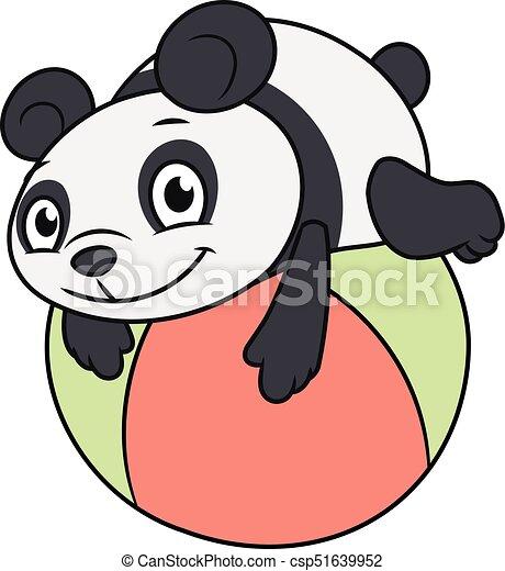 わずかしか, 2, パンダ, ボール, 遊び - csp51639952