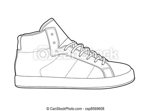 アウトライン, 靴 - csp8569608