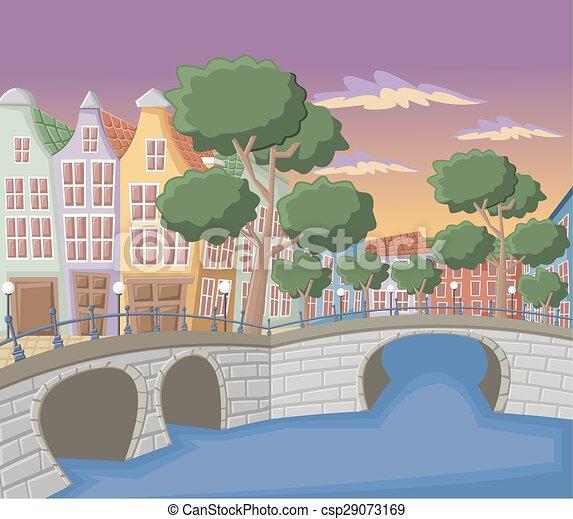 アムステルダム, 運河 - csp29073169