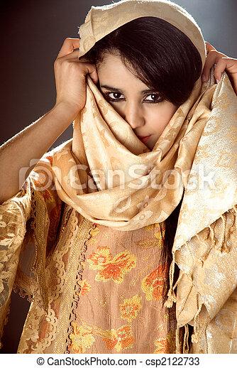 アラビア人, 女の子 - csp2122733