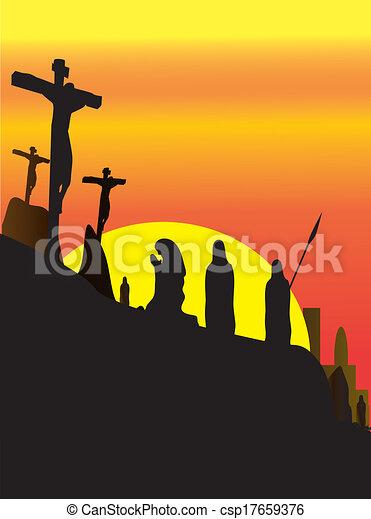 イエス・キリスト, はりつけ - csp17659376