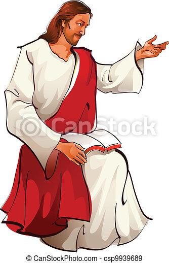 イエス・キリスト, モデル, 光景, キリスト, 側 - csp9939689