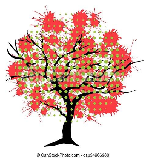 インク, 木, 抽象的 - csp34966980