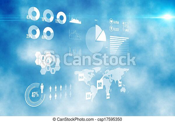 インターフェイス, 未来派, 技術 - csp17595350