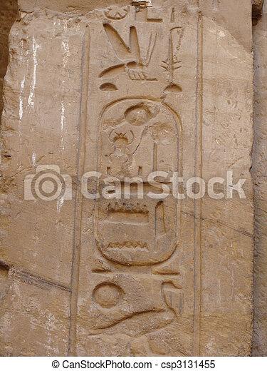 エジプト人, 象形文字 - csp3131455