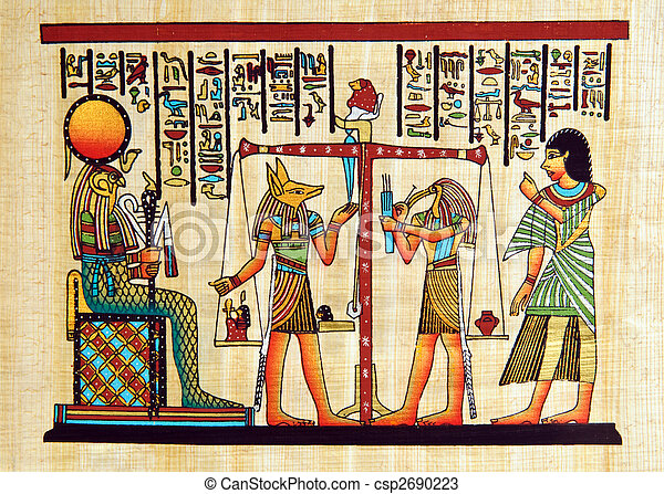 エジプト, パピルス - csp2690223
