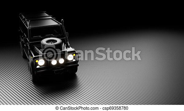 オフロード, 背景, 車 - csp69358780