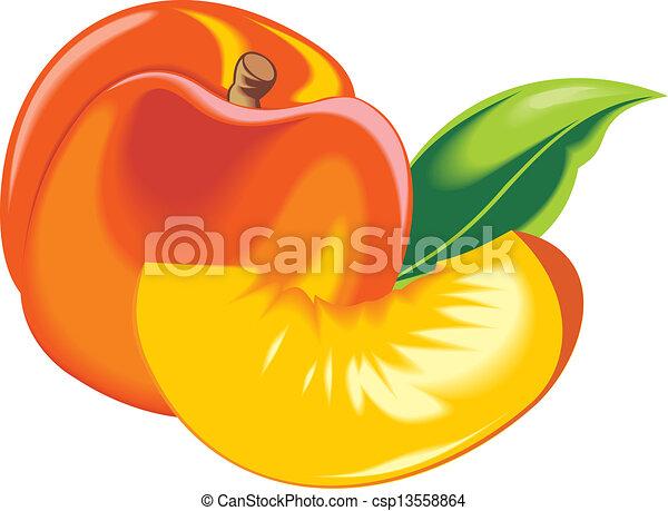 オレンジ, 新たに, 桃 - csp13558864