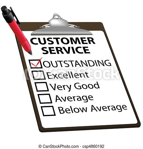 カスタマーサービス, 形態, 顕著, レポート, 評価 - csp4860192