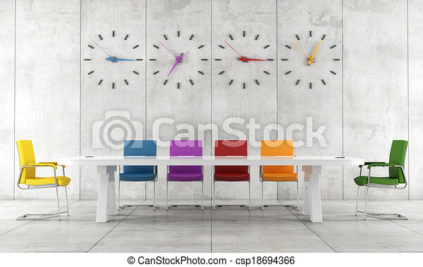 カラフルである, 部屋, 会議 - csp18694366