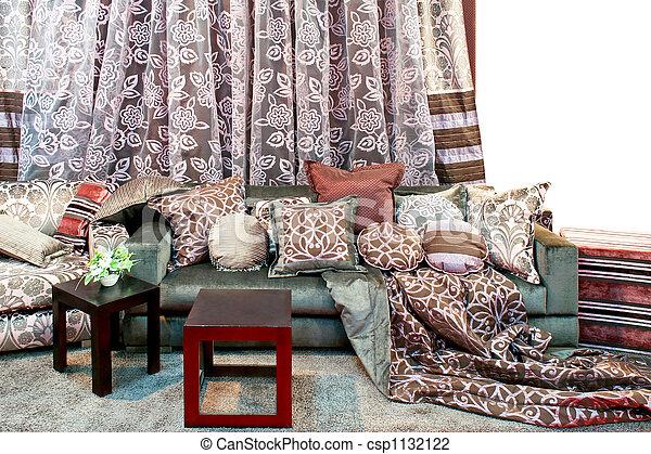 カーテン, 枕 - csp1132122