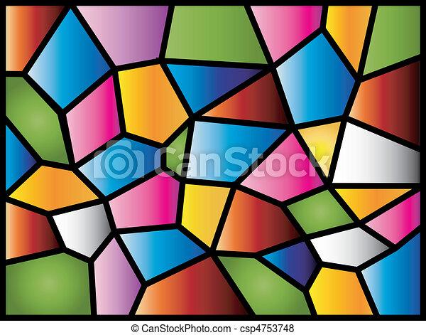 ガラス, 汚された - csp4753748