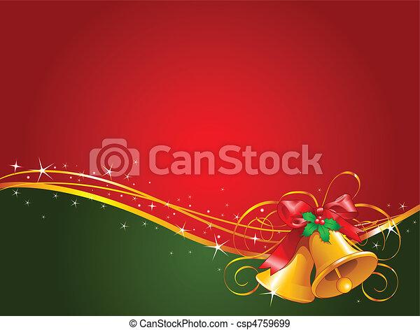 クリスマスベル, 背景 - csp4759699