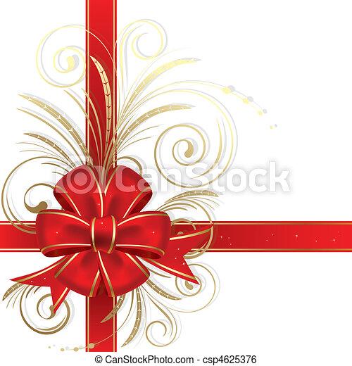 クリスマス, 弓 - csp4625376