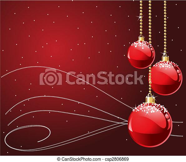 クリスマス, 赤 - csp2806869