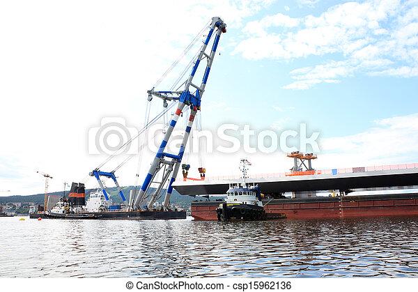 クレーン, てんま船, 橋, リフト - csp15962136