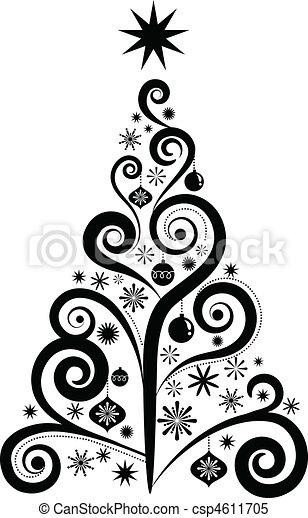 グラフィック, 木, クリスマス - csp4611705