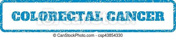 ゴム製 スタンプ, colorectal, がん - csp43854330