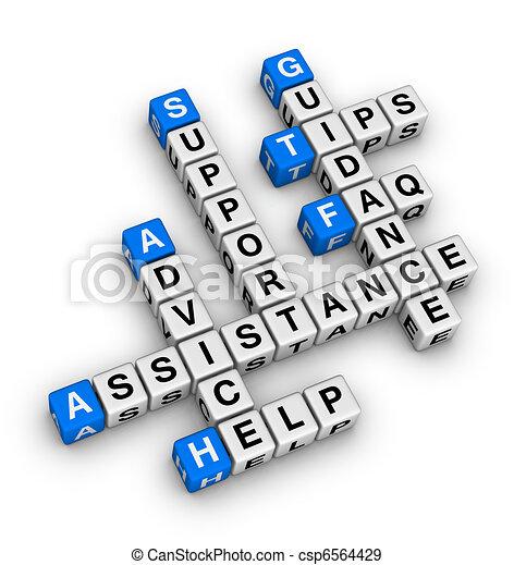 サポート, 助け - csp6564429