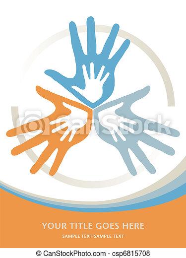 サポート, 愛, design., 家族 - csp6815708