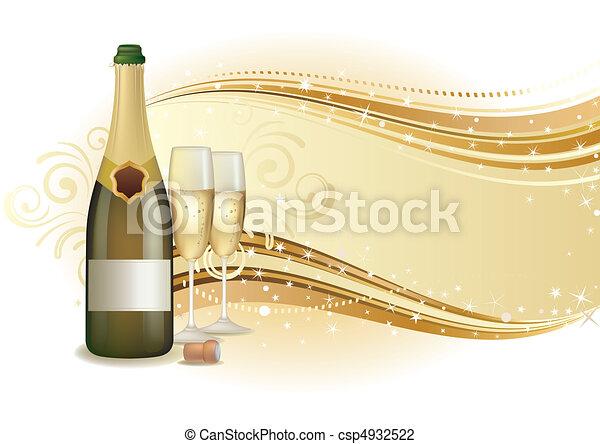 シャンペン, 祝いなさい, 背景 - csp4932522