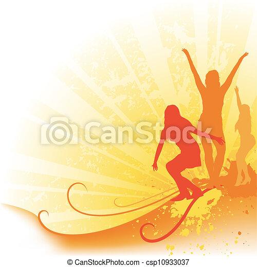シルエット, ダンス - csp10933037