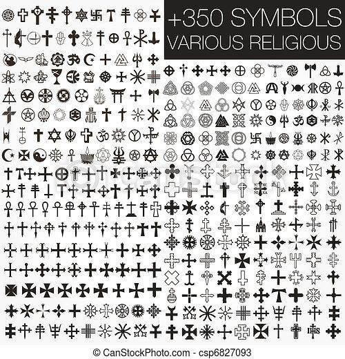 シンボル, 様々, 350, ベクトル, religio - csp6827093