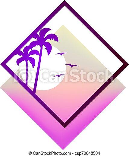 シンボル, 浜, すてきである - csp70648504