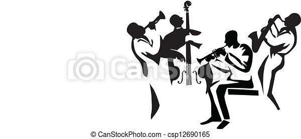 ジャズ, 四つ組 - csp12690165