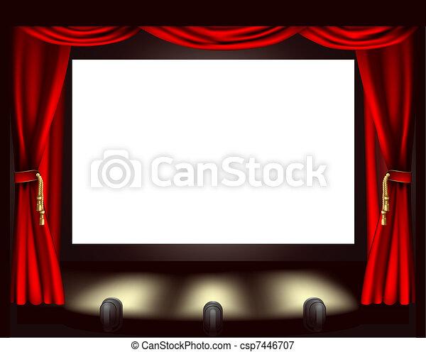 スクリーン, 映画館 - csp7446707