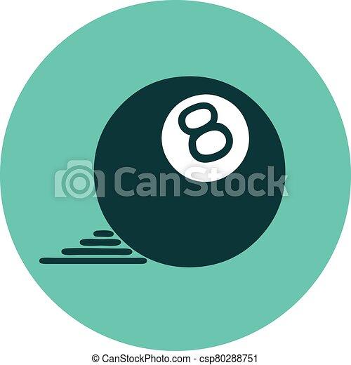 スタイル, ボール, 8, アイコン, 入れ墨 - csp80288751