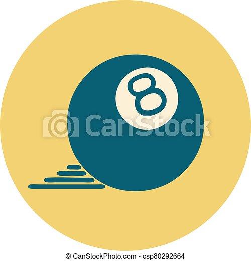 スタイル, ボール, 8, アイコン, 入れ墨 - csp80292664