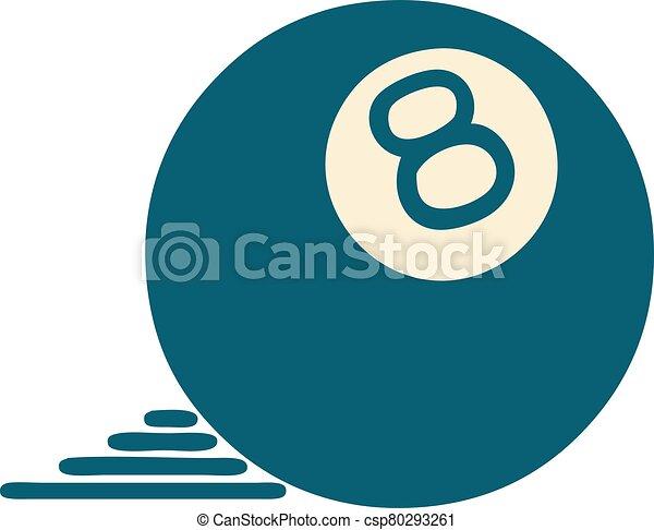 スタイル, ボール, 8, アイコン, 入れ墨 - csp80293261