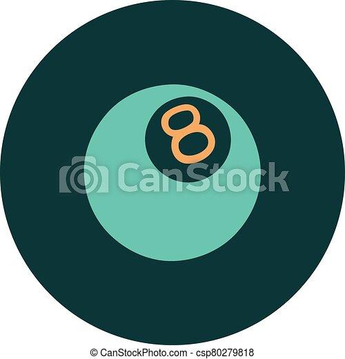 スタイル, ボール, 8, アイコン, 入れ墨 - csp80279818