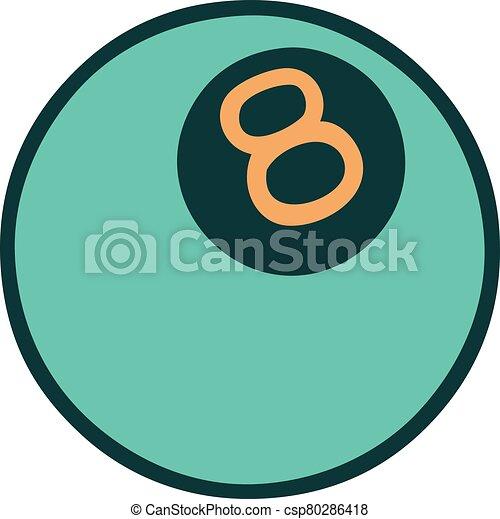 スタイル, ボール, 8, アイコン, 入れ墨 - csp80286418