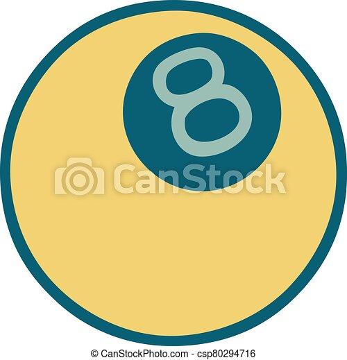 スタイル, ボール, 8, アイコン, 入れ墨 - csp80294716